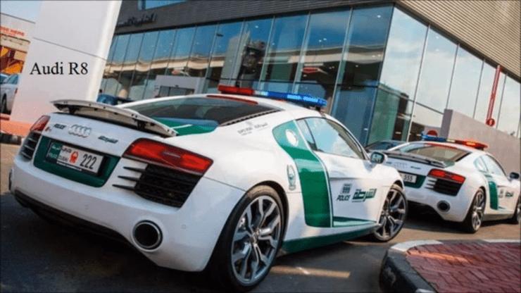 Fastest police cars in the world - Audi R8 - Dubai