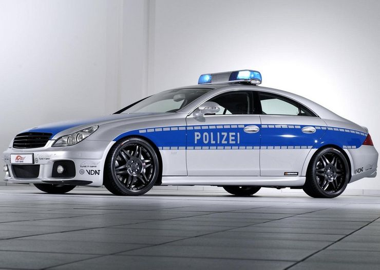 Fastest police cars in the world - Brabus Mercedes CLS Rocket - Germany