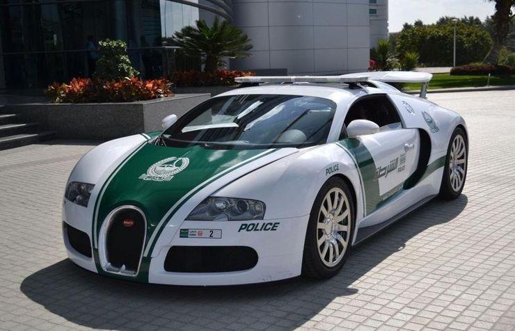 Fastest police cars in the world - Bugatti Veyron - Dubai