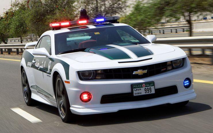 Fastest police cars in the world - Chevrolet Camaro SS - Dubai