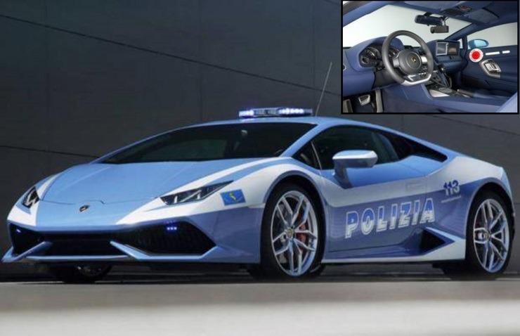 Fastest police cars in the world - Lamborghini Huracan - Rome, Italy