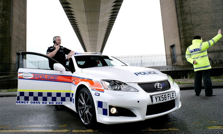 Fastest police cars in the world - Lexus IS-F - The United Kingdom