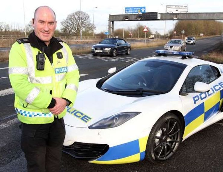 Fastest police cars in the world - McLaren MP4-12C