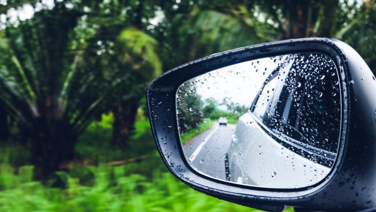 Use car mirrors properly